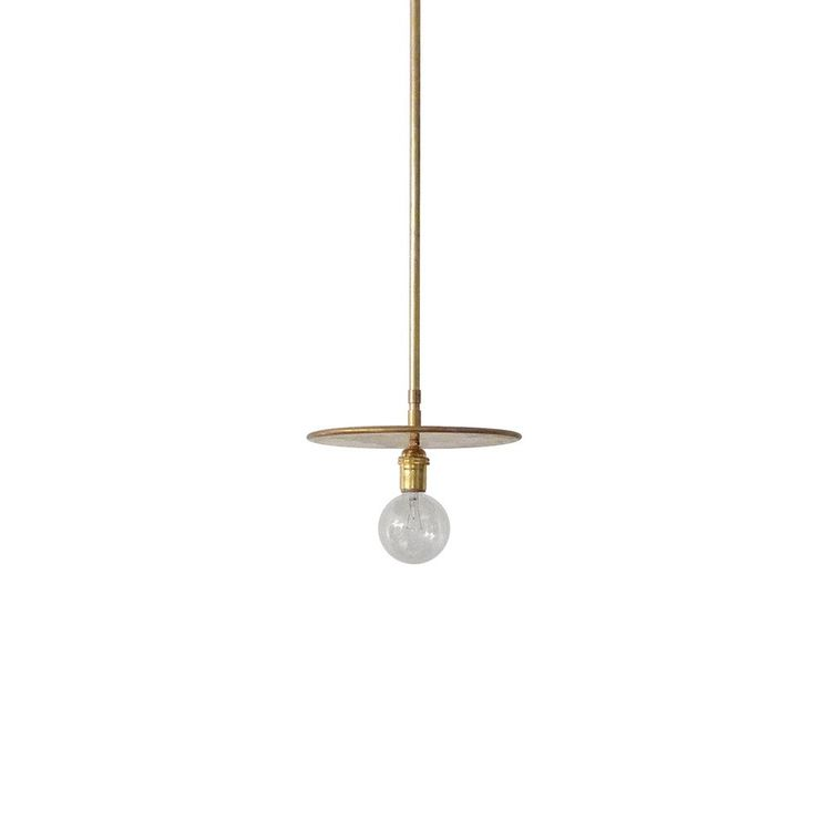 Simple and refined pendant light with adjustable disc