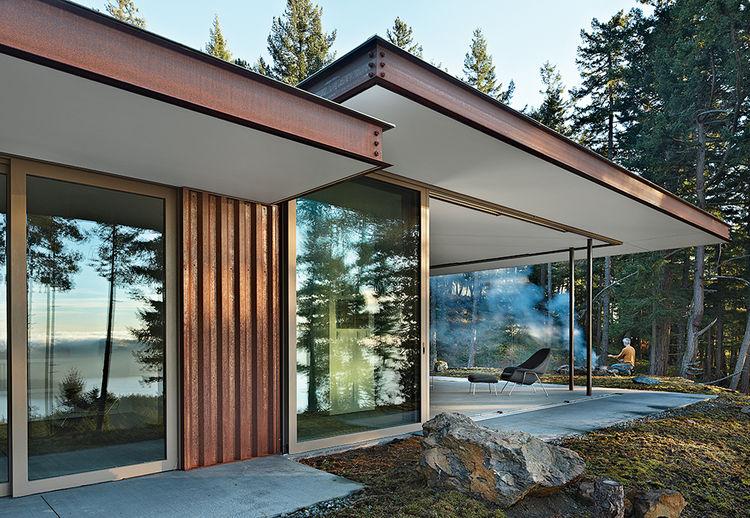 Aging in Place Gary Gladwish Eagle Ridge facade open plan steel exterior