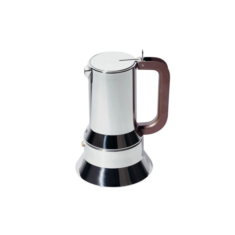 Classic stainless steel six-cup espresso maker