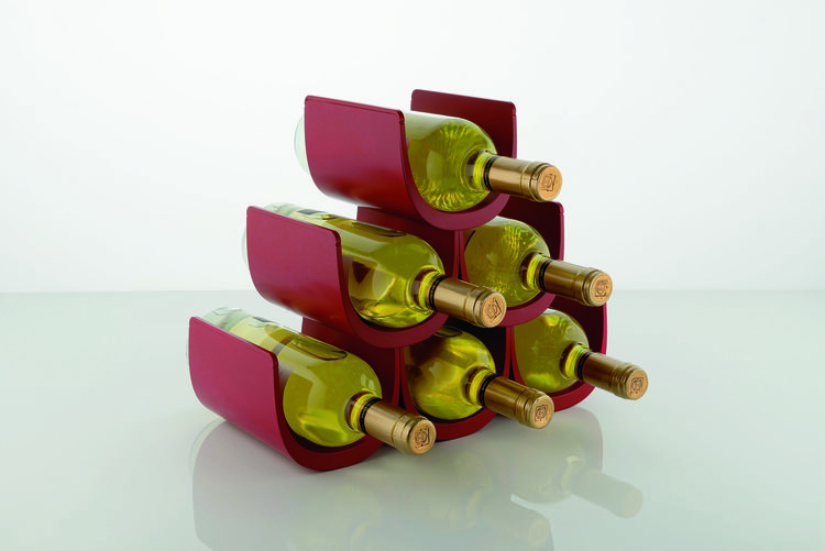 Modular wine rack made of thermoplastic resin