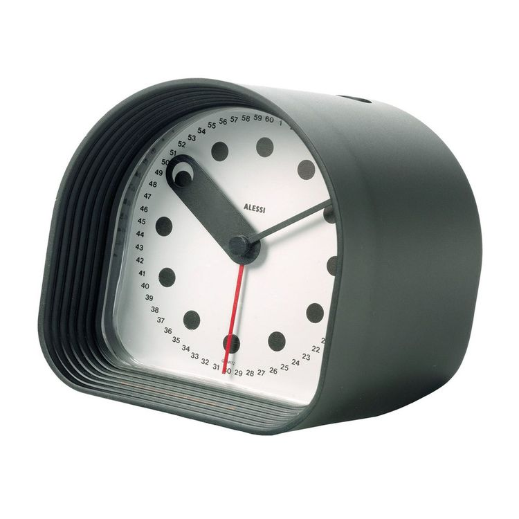 Classic alarm clock with distinctive markers