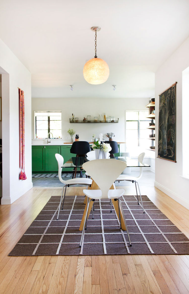 Allison Burke's Austin Home Renovation, Dining and Kitchen Areas