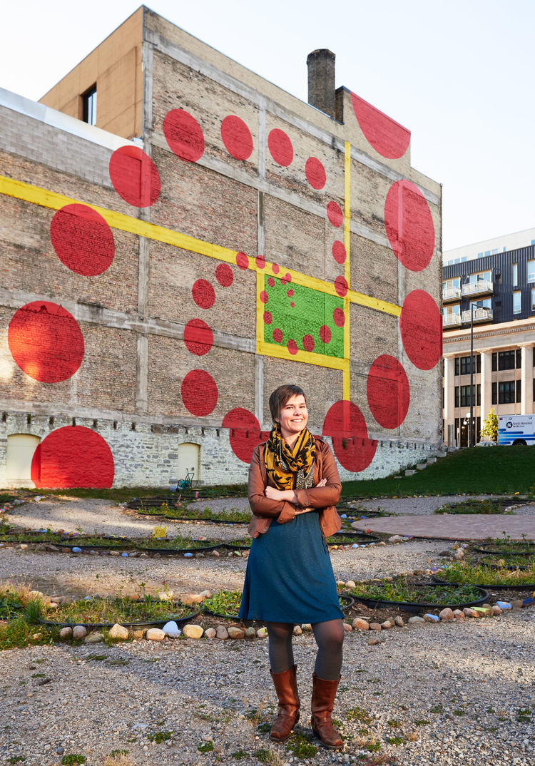 Artist Amanda Lovelee and the playful mural and garden she helped create in Minneapolis.