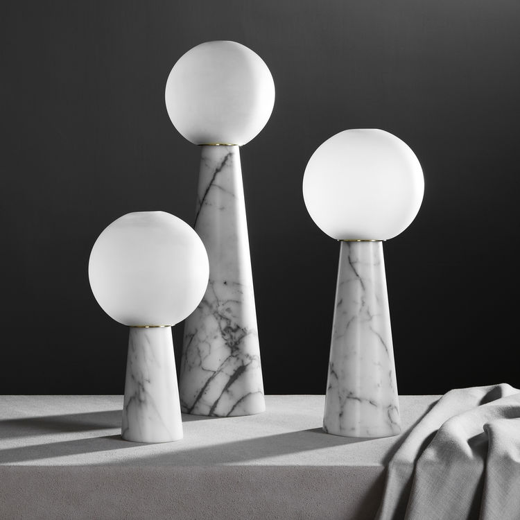 Neo Marble lanterns by Apparatus Studio