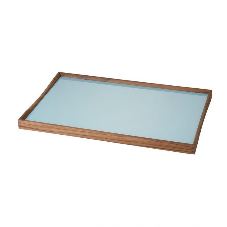Finn Juhl tray in teak and acrylic