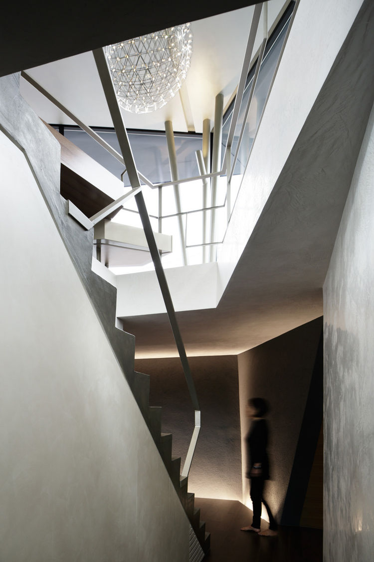 Stair of a Tokyo home by Artechnic.