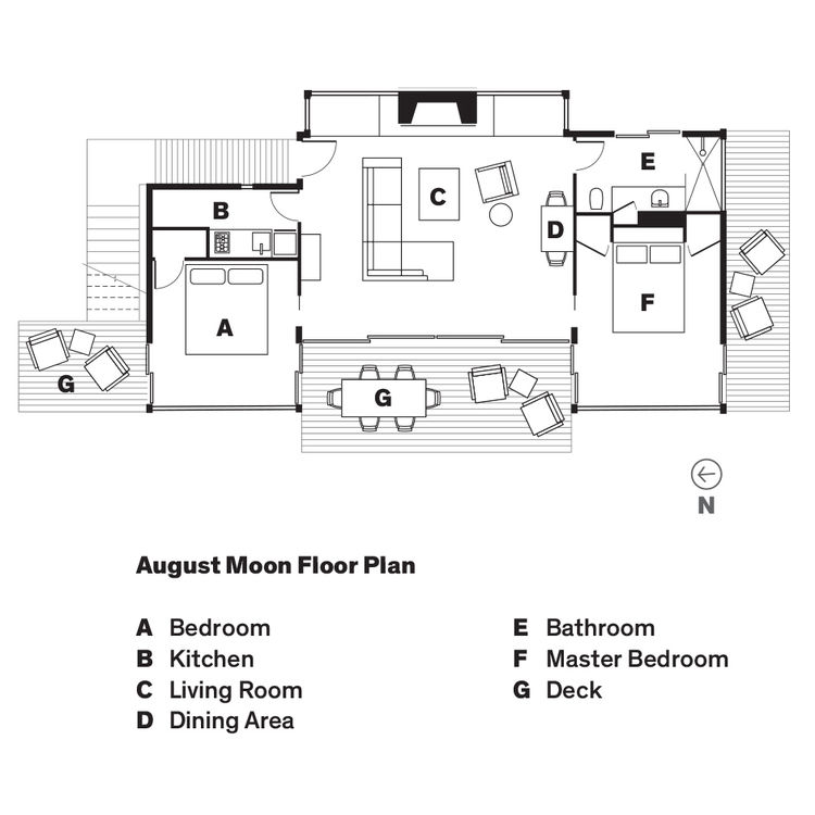August Moon cabin floor plan