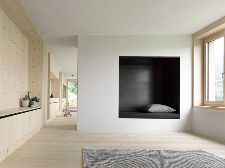 Austrian Latticework Home living space and built-in bench