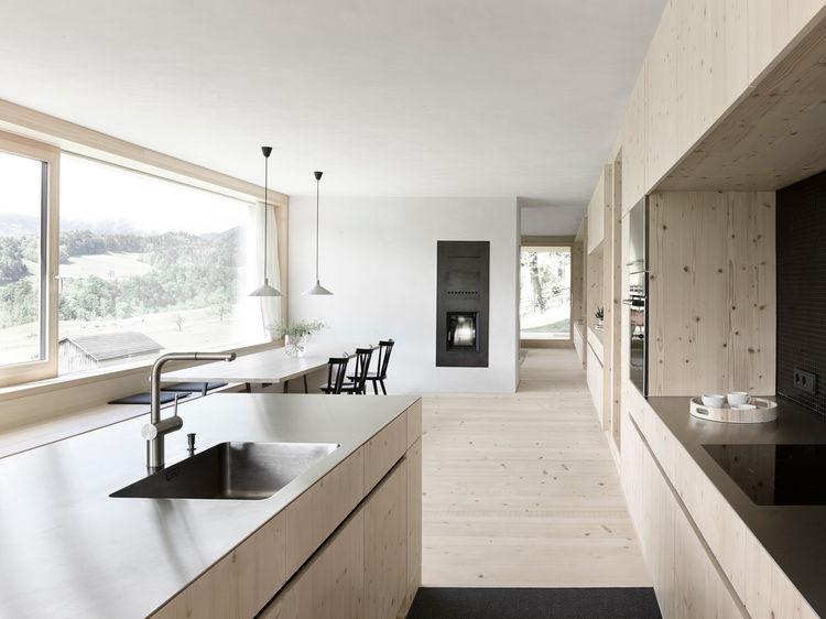 Austrian Latticework Home kitchen and dining area