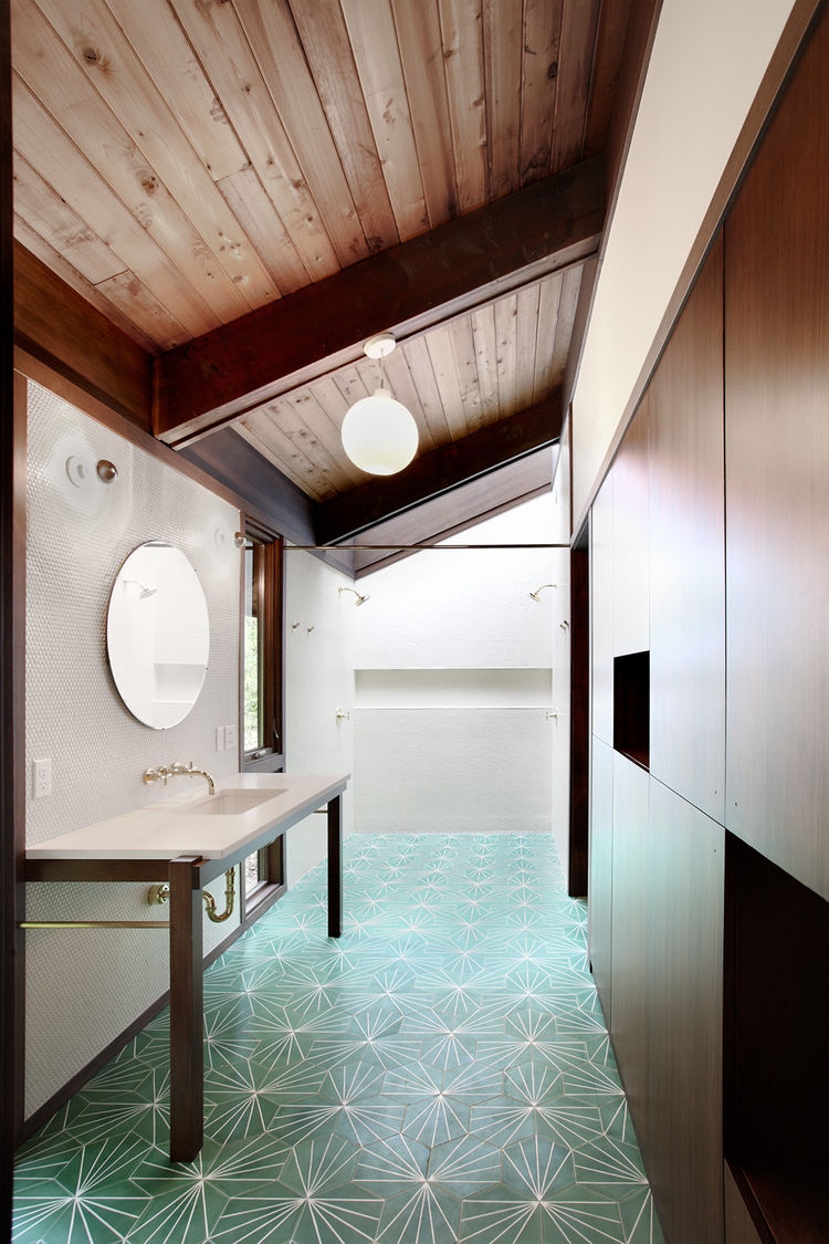 Japanese-Inspired Bainbridge Island house Master Bathroom