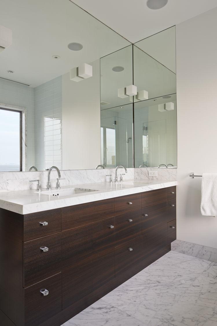 Ann Sacks Savoy tiles and Lefroy Brooks fixtures in bathroom of San Francisco remodel by Studio Vara.