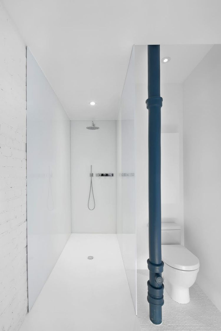 Starck 3 toilet by Duravit in bathroom of Montreal renovation by Anne Sophie Goneau