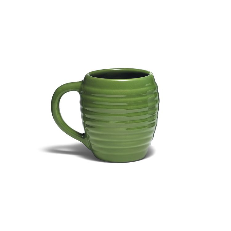 Classic beehive shaped mug with glaze