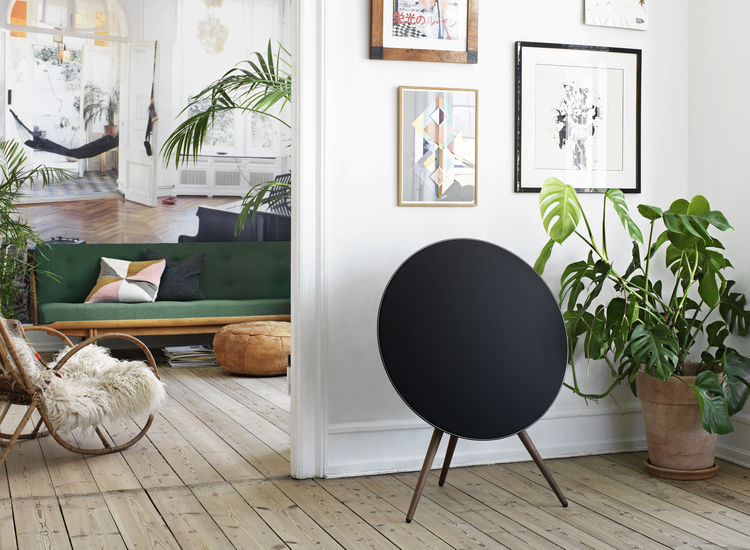 Sculptural furniture-inspired sound system