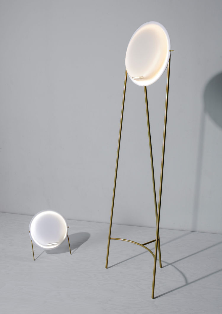 Short and tall light that doubles as an air purifier.