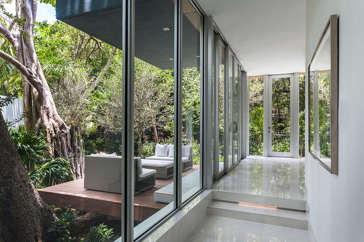 Floor-to-ceiling glass doors