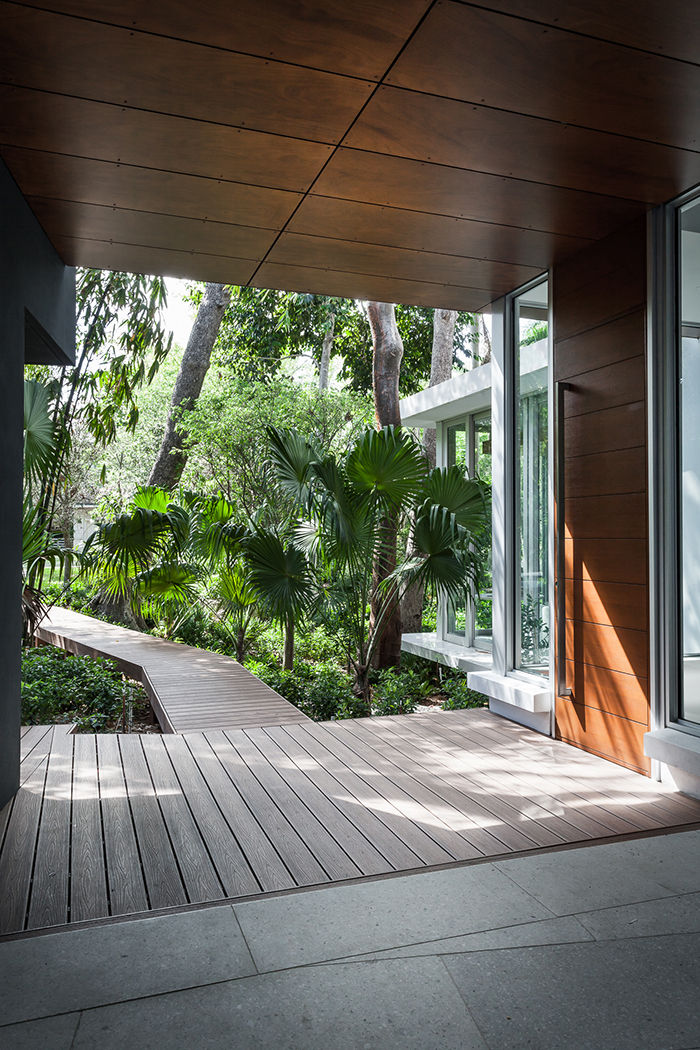 Deck and boardwalk off a Miami house