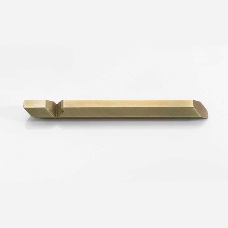 Hex Brass Bottle Opener by Iacoli & McAllister, made in Seattle.