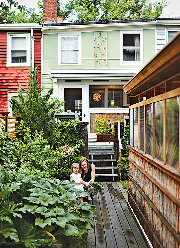Boston Pops renovation small space backyard workshop rear facade.