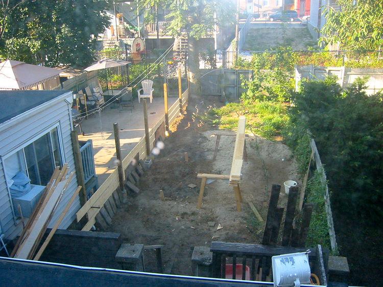 Boston Pops renovation small space before backyard.