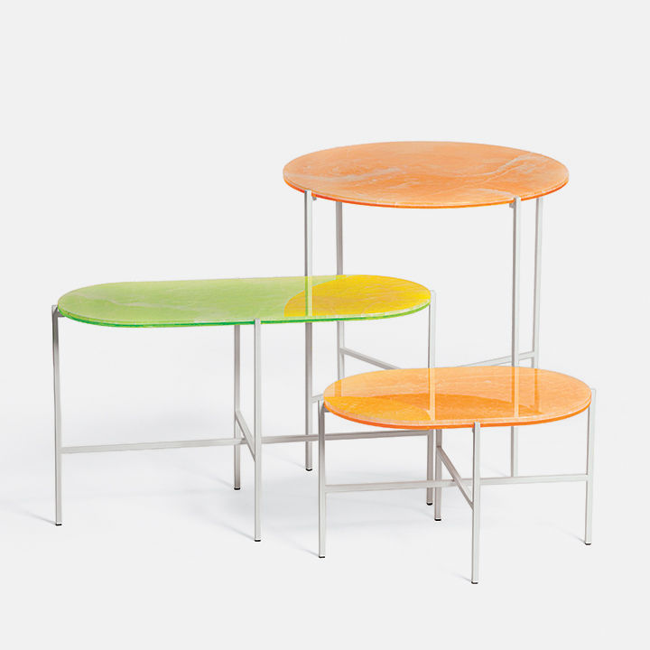 modern furniture products bright colors haymann neon tables