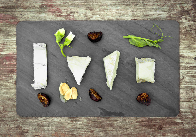 Slate serving board for cheese and appetizers