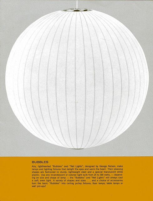 Archival advertisement for George Nelson Ball Bubble Lamp