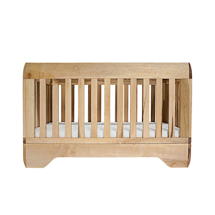 Modern made in the USA America designers Kalon Studios IoLine crib made of bamboo