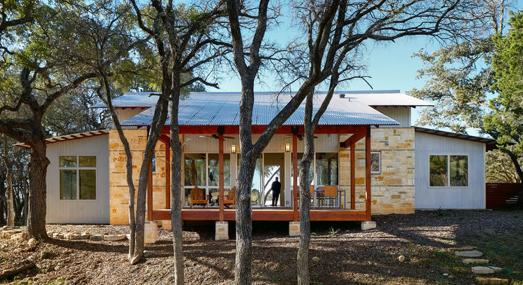 Reclaimed douglas fir porch in Texas.
