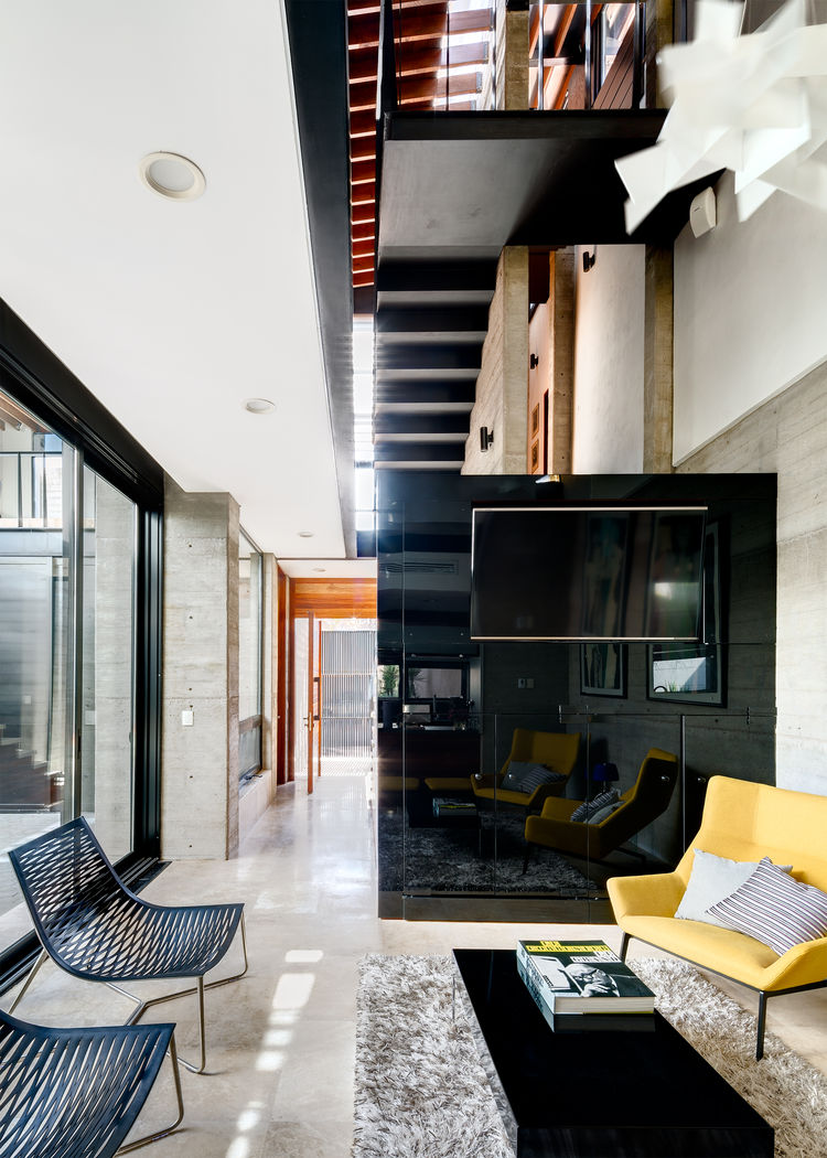 Calle Segunda living room and stair cube.
