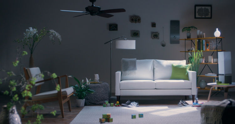 Campaign furniture white sofa