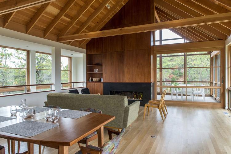 Enclosed porch in a Cape Cod cabin