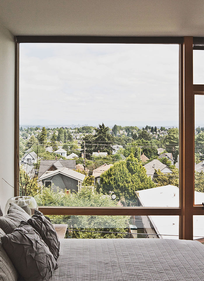 Modern multifamily home in Seattle with view of Seattle from the Master Bedroom