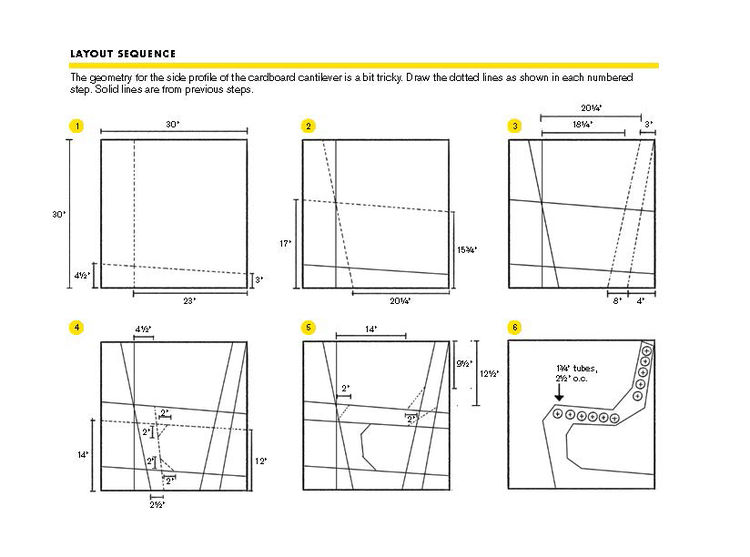 How to make a DIY cardboard chair diagram