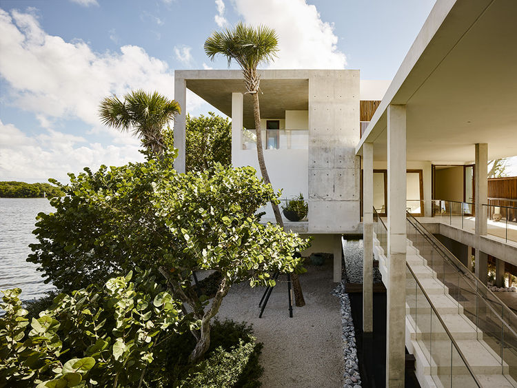 Casa Bahia by Alejandro Landes overlooking Biscayne Bay in Miami, Florida