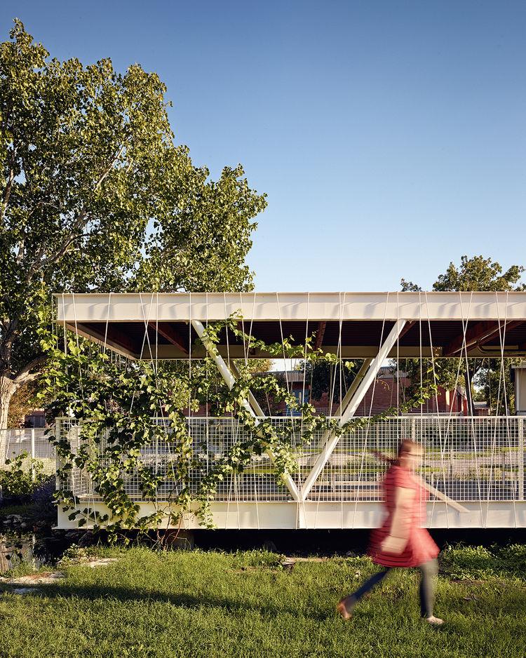 modern outdoor classroom garden structure