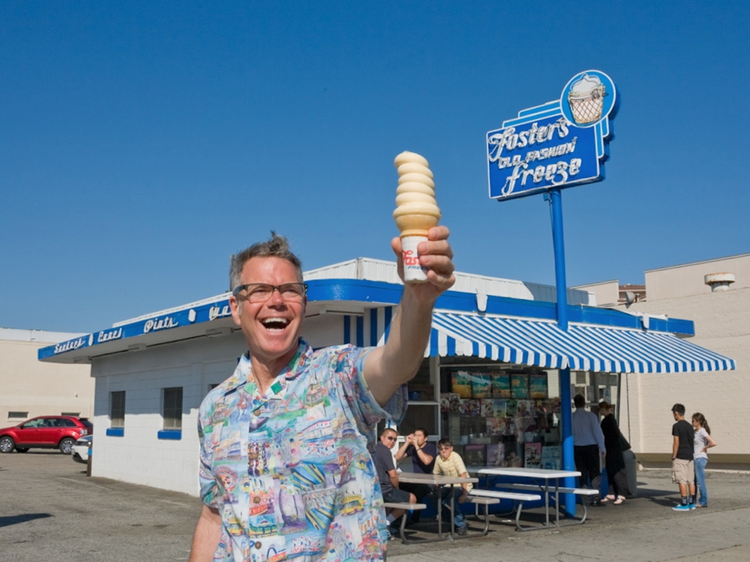 Charles Phoenix at Fosters Freeze in Torrance, California.