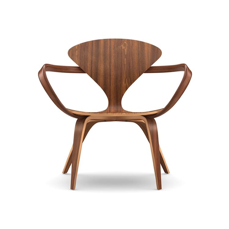 Classic lounge chair in walnut wood
