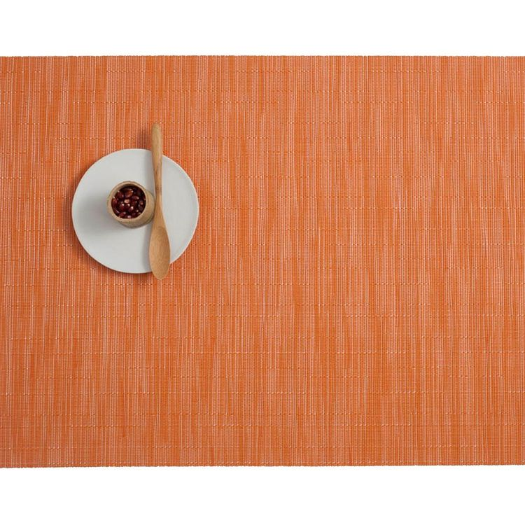 Soft orange woven placemat