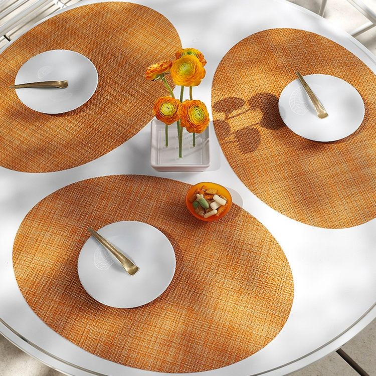 colorful indoor/outdoor basketweave placemat