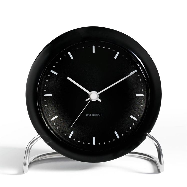 Table alarm clock derived from classic wall clock
