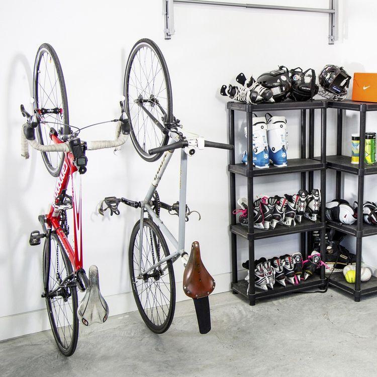 Innovative bike holder that wall or floor mounts
