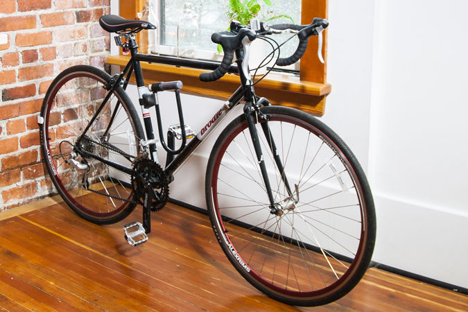 Innovative, wall-mounted bike storage solution