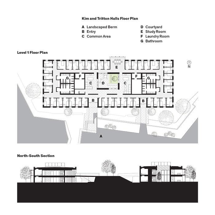 Kim and Tritton Halls Floor Plan