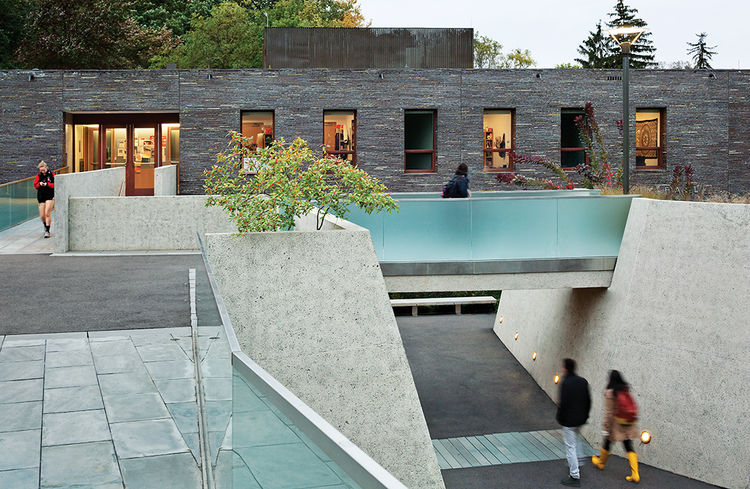 Brick dorm at Haverford designed by Tod Williams Billie Tsien Architects