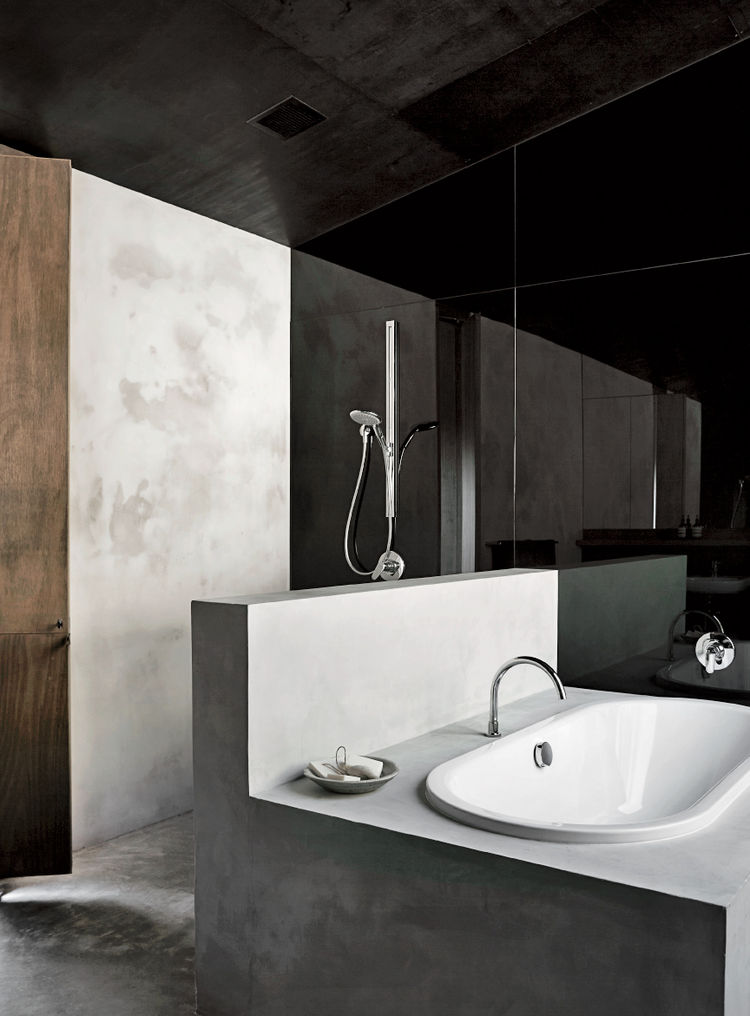 En suite tub by Kaldewei and mixer by Tonic in house designed by Kerstin Thompson Architects.