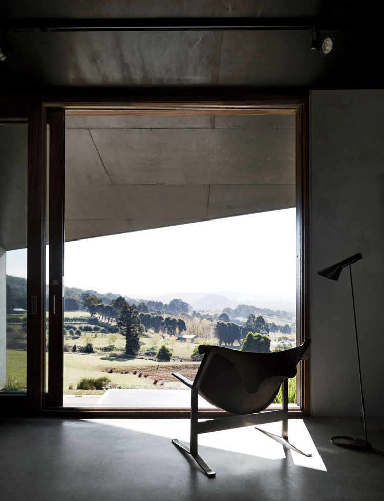 Clement Meadmore Sling chair in house designed by Kirsten Thompson Architects.