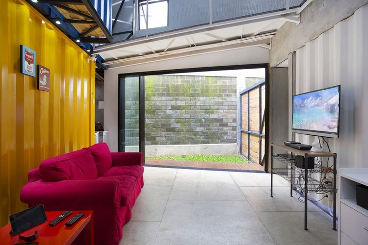 Container home living room.