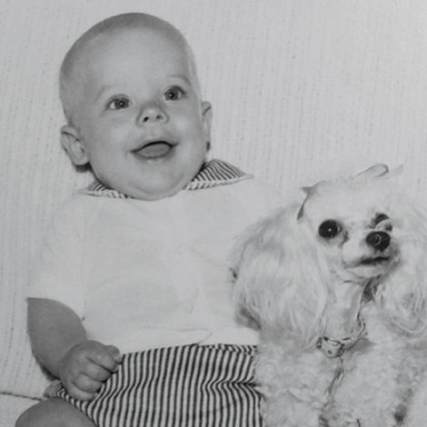 Portrait of Brent Humphreys as a child.