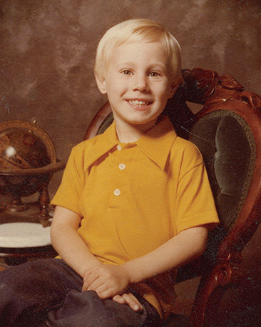 Portrait of Dave Lauridsen as a child.